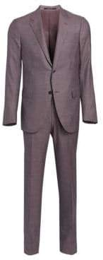 Ermenegildo Zegna Men's Milano Two-Button Tonal Weave Suit - Grey - Size 50 (40) R