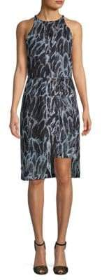 Halston Sleeveless Printed Shift Dress