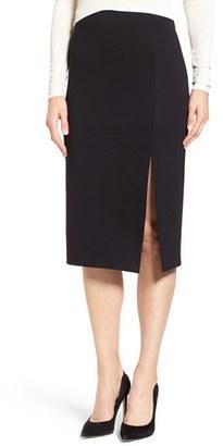 Women's Cece Side Slit Ponte Midi Skirt $79 thestylecure.com