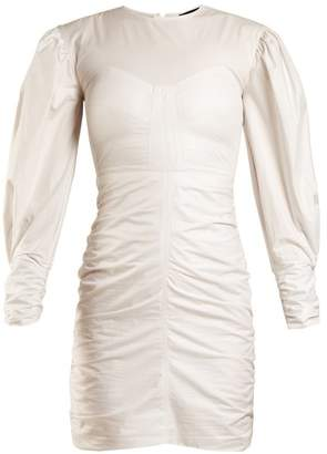Isabel Marant May Puff Sleeved Gathered Dress - Womens - White