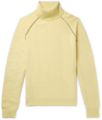 Alanui Appliqued Cashmere Rollneck Sweater