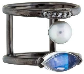 Paige Novick Phyne by Pearl, Diamond & Moonstone Ring