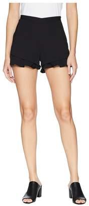BB Dakota Weekend Warrior Textured Rayon Ruffle Shorts Women's Shorts