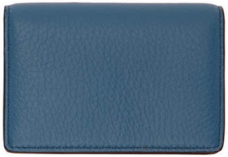 Smythson Blue Burlington Card Holder