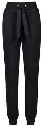 HUGO BOSS Slim-fit jersey trousers with tie-waist detail