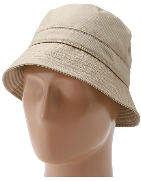Hat Attack Nylon Rain Hat w/ Drawstring (Khaki) - Hats