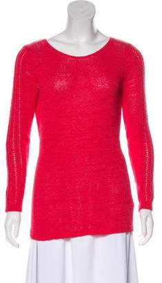 Rachel Zoe Rib-Knit Trim Long Sleeve Sweater