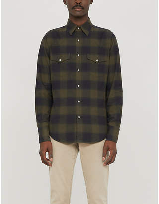 Tom Ford Western checked regular-fit cotton-flannel shirt