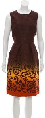 Oscar de la Renta Silk Ombré Dress