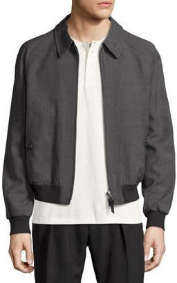 TOM FORD Zip-Front Wool Bomber Jacket, Gray $2,890 thestylecure.com