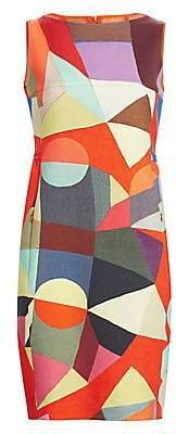 Akris Women's Indian Summer Printed Wool Sheath Dress