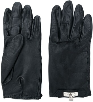 Hermes Pre-Owned padlock-detail gloves