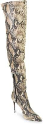 GUESS Baylie Python-Print Knee-High Boots
