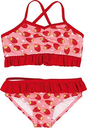 Playshoes Girl's UV Sun Protection Swimsuit Strawberries Bikini,12-18 Months (Manufacturer Size:86/92 (12-24 Months))