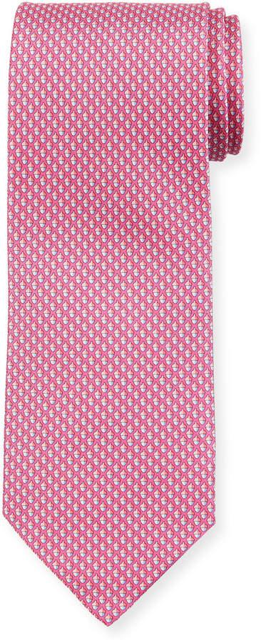 Salvatore Ferragamo Acorn Silk Tie, Pink