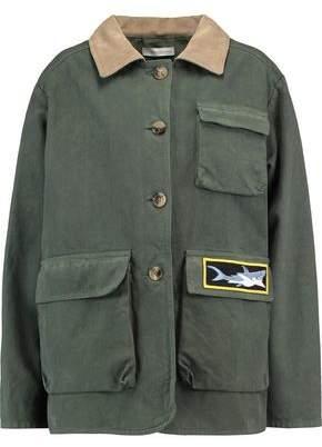 J.W.Anderson Corduroy-Trimmed Appliquéd Cotton-Canvas Jacket
