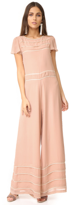 RED Valentino Wide Leg Embroidered Jumpsuit $1,075 thestylecure.com