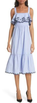 Kate Spade Daisy Embroidered Cotton Patio Dress
