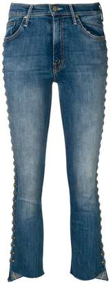 Mother stud embellished jeans