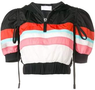 NO KA 'OI No Ka' Oi cropped striped sports jacket