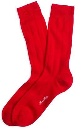 Brooks Brothers Ribbed Cashmere Crew Socks