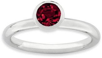 Swarovski Stackable Expressions Sterling Silver High 5mm July Ring