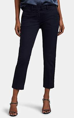 Mason Women's Studded Cotton-Blend Slim Crop Pants - Navy