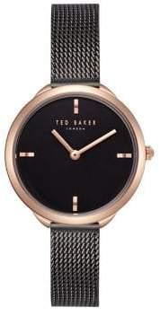 Ted Baker Elena Black Dial Rose Goldtone Watch