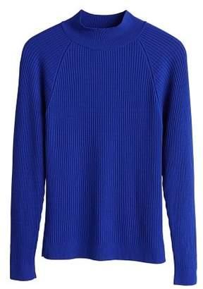 MANGO High collar ribbed knit sweater
