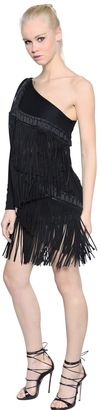 Fringed Micro Piqué Jersey Dress $3,695 thestylecure.com