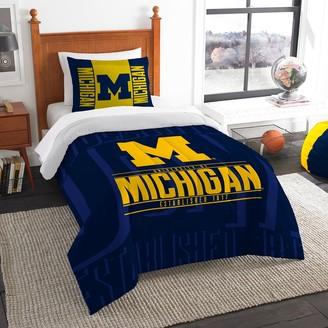NCAA Michigan Wolverines Modern Take Twin Comforter Set by Northwest