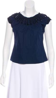 Philosophy di Alberta Ferretti Sleeveless Embellished Top
