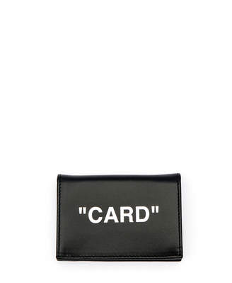 Off-White Off White Quote Small Flap Card Case