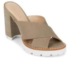 Saks Fifth Avenue Crisscross Leather Sandals