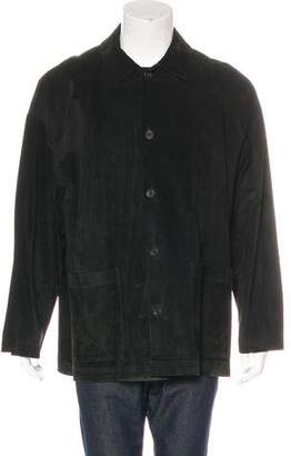 eskandar Suede Button-Up Jacket
