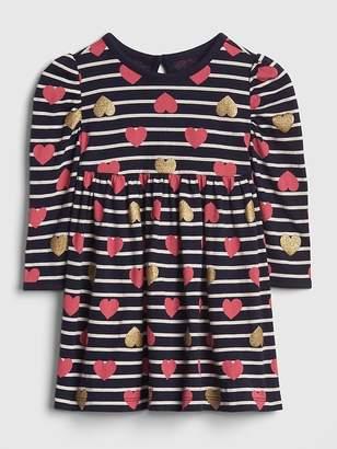 Gap Glitter Stripe Heart Dress