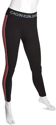 Calvin Klein Side Stripe Logo Leggings