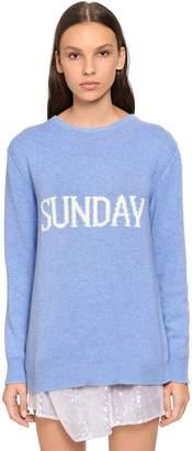 Alberta Ferretti Oversized Sunday Wool & Cashmere Sweater