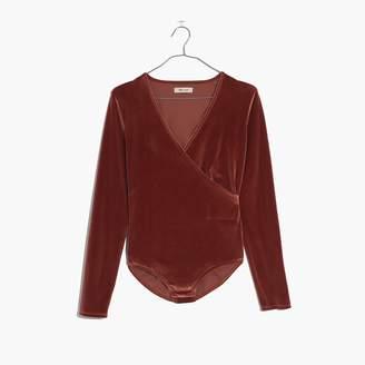 Madewell Velvet Wrap Bodysuit