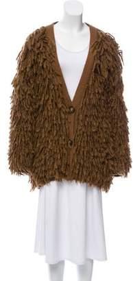 Stella McCartney Wool & Alpaca Fringe Cardigan