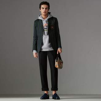 Burberry Embroidered Archive Logo Jersey Hoodie