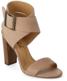 Jayla Embossed Leather Sandals $158 thestylecure.com