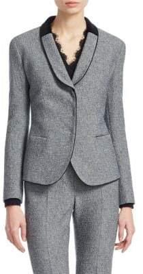 Emporio Armani Shawl Collar Boucle Blazer