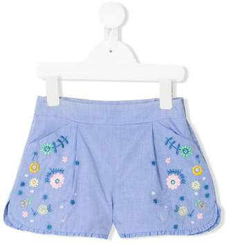 Knot embroidered shorts