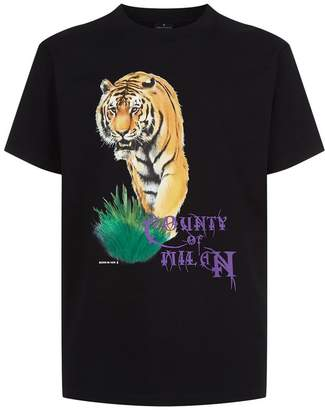 Marcelo Burlon County of Milan Tiger Print T-Shirt