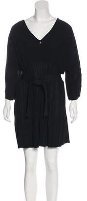 Chanel Plissé Knee-Length Dress
