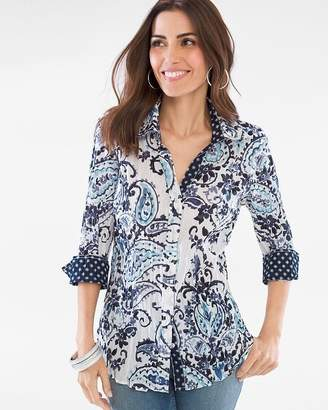 Chico's Cino For Paisley Dot Crinkle Shirt