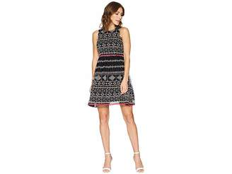 Taylor Embroidered Mesh Lace Fit and Flare Dress Women's Dress