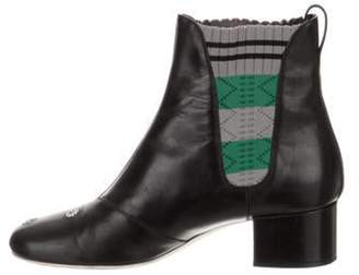 Fendi Embroidered Ankle Boots Black Embroidered Ankle Boots