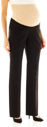 JCPenney DUO MATERNITY duo Maternity Overbelly Straight-Leg Trouser Pants - Plus